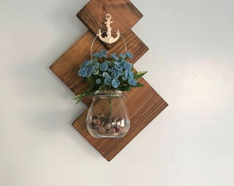 Rustic hanging flower vase