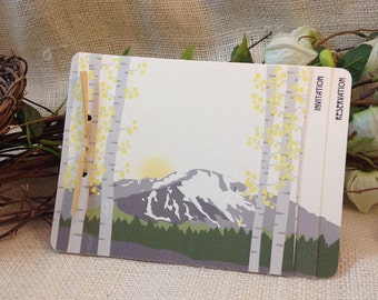 Pikes Peak Mountain Wedding Livret Booklet Invitation: Get Started Deposit