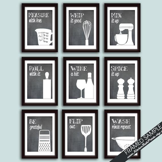 Funny Kitchen Art Print Set Set Of 9 Art Prints Featured