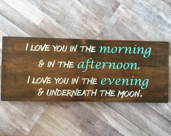 Nursery decor | Kid room decor | I love you decor | Bedroom decor | Baby shower gift | rustic decor | Wood decor | Wall decor | Wooden sign