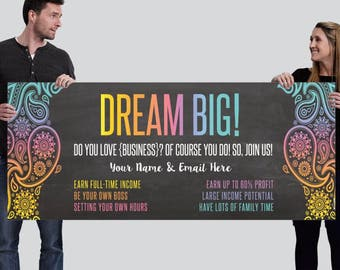 Recruitment Banner - Trade show booth banner - Join Our Team Banner - Direct Sales Banner - 6ft x 2.5ft banner