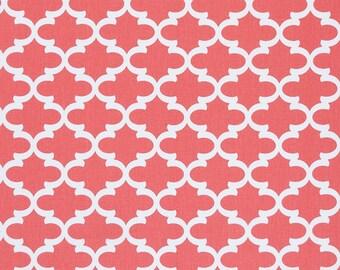 Premier Prints Fulton in Coral 7 oz Cotton Home Decor fabric, 1 yard