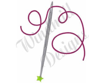 Sewing Needle & Thread - Machine Embroidery Design