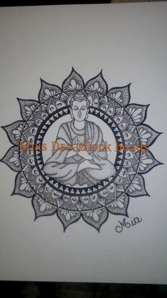 afdrukbare volwassen kleurplaat een mandala met boeddha