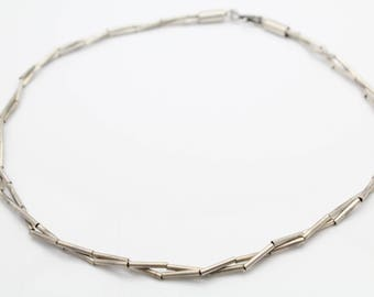 "Peruvian Twisted Strand 15"" Hand-Strung Necklace in Sterling Silver. [11075]"