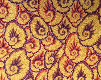NEW for 2017 - Curlique in ochre - 2 yds.