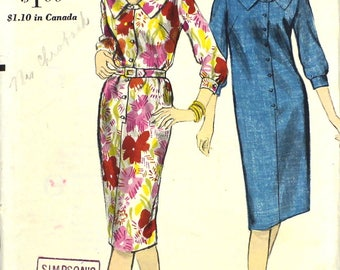 UNCUT Classic 1960's Shirtwaist Dress Sewing Pattern Bust 31 Vintage Vogue 5831