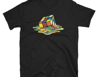 Melting Rubix Cube Puzzle T-Shirt