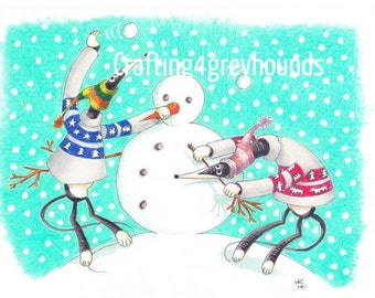 Greyhound & Galgo Christmas Cards Set 2