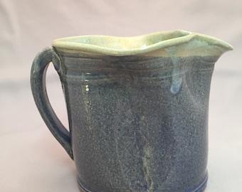 Wonky blue pitcher
