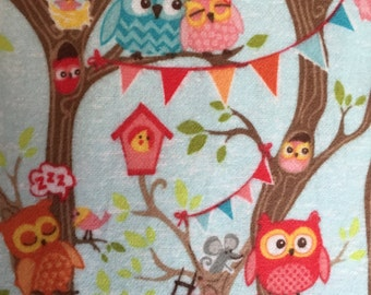 Tree Party Owl Flannel by Riley Blake