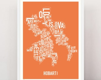 HOBART - Large Suburban Screen Print