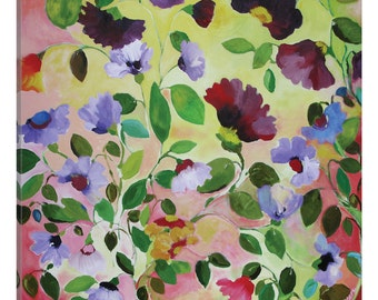iCanvas Morning Glories Gallery Wrapped Canvas Art Print by Kim Parker