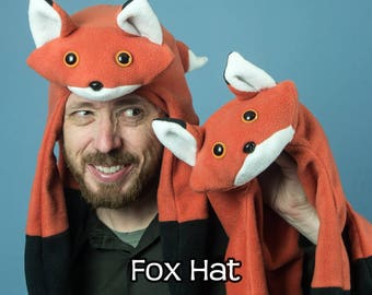 Fleece Fox Warm Hat Orange
