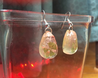 """Four leaf clover & selenite """"lil lucky delights"""""""