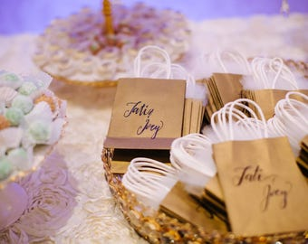 Sets of 24 Custom Personalized Favor Bags