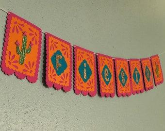 Fiesta banner, papel picado, Cinco de Mayo, First Fiesta, Final Fiesta