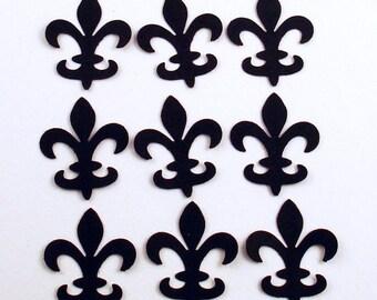 Funfetti Paper Confetti Die Cut   Fleur de Lis   in  Jet Black
