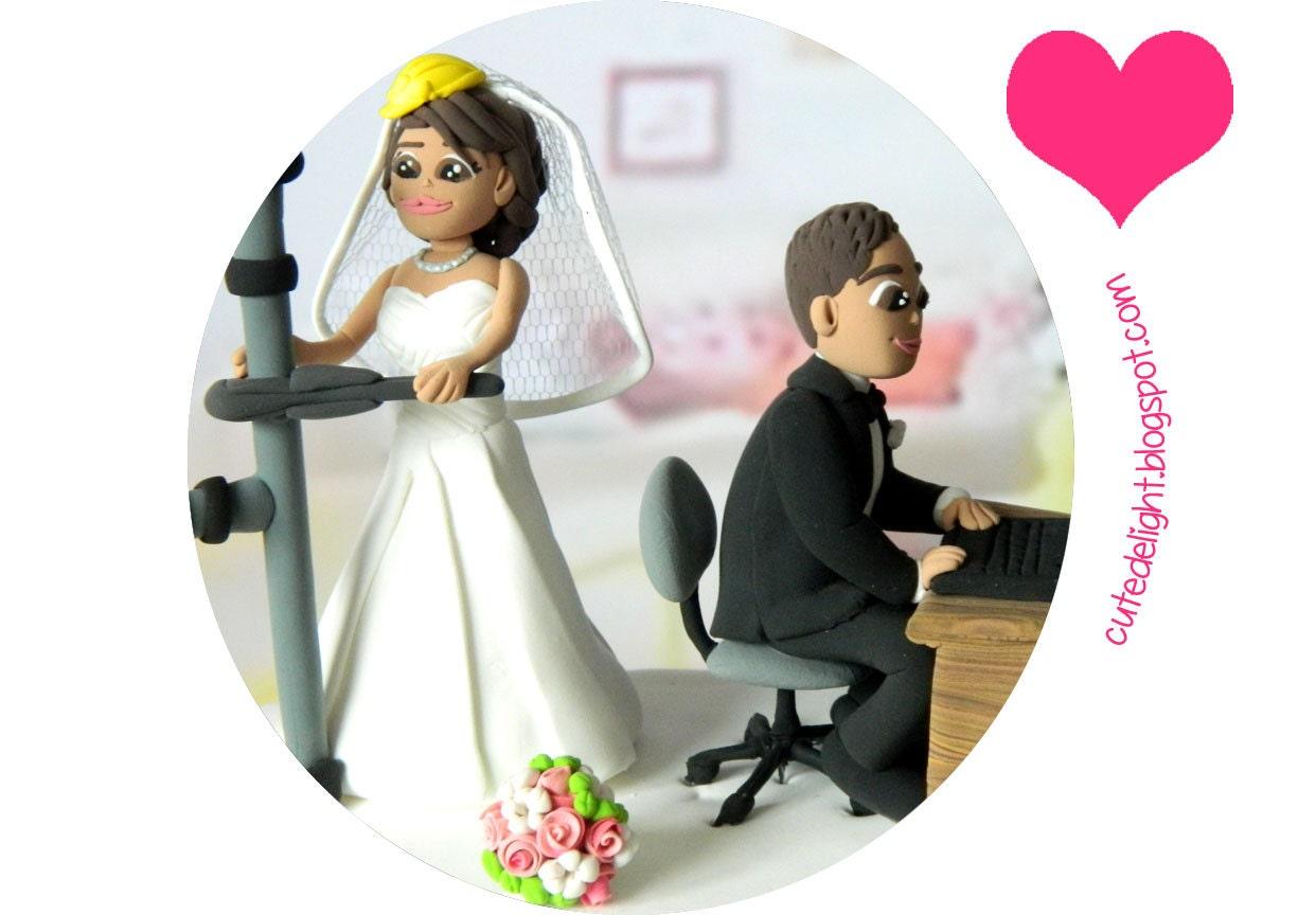 Wedding Cake Topper Laptop cake topper Engineer cake topper