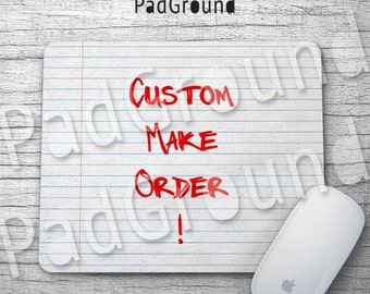 Custom Mousepad, Personalized Computer Mouse Pad, Create your own Mouse Pad, Natural Soft Fabric rubber backing Mouse Pad