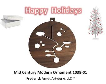 1038-1 Mid Century Modern Christmas Ornament