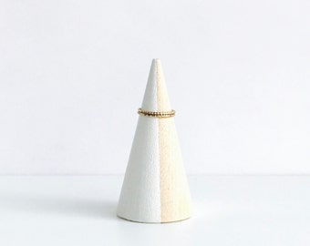White Wood Ring Cone | Ring Holder | Jewelry Holder