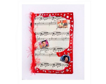 music notes notepad - gift for music lover