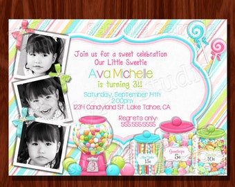Sweet Shoppe Buffet Birthday Invitation PRINTABLE Digital File