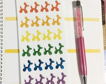 Balloon Dog Stickers, Balloon Planner Stickers, Balloon Animal Stickers, Balloon Stickers, Clown stickers, planner sticker set