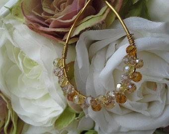 Gold Tones Drop Earrings