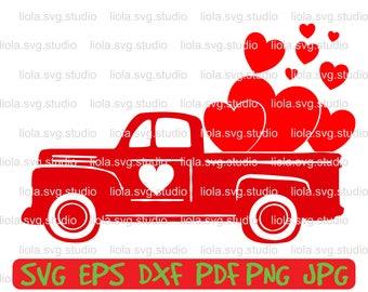 valentine truck svg, boy valentine svg, valentine truck, Valentines Heart svg, love truck svg, valentines truck, truck with hearts