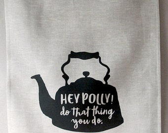 hey polly linen tea towel (oatmeal)