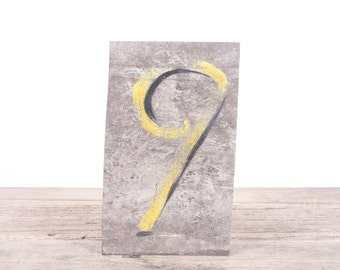 "Vintage Metal Number 9 / Old Number 9 / 10"" Score Board Number / Old Sports Sign / Vintage Number / Metal Numbers /Silver Antique Sign"