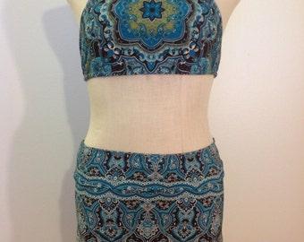 Boho festival mini skirt