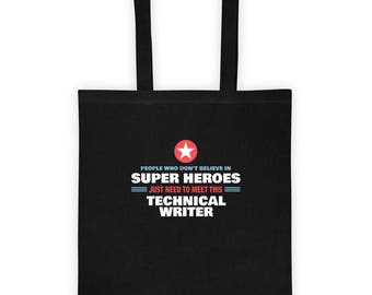 People Meet This Super Hero Technical Writer Tote Bag Gift for Awesome Work as Technical Writer Birthday