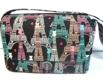 Large 4 InchSize Coupon Organizer  Coupon Bag Budget Holder Box Attaches to Your Shopping Cart Turquoise, Pink Eiffer Tower-Pick Your Size