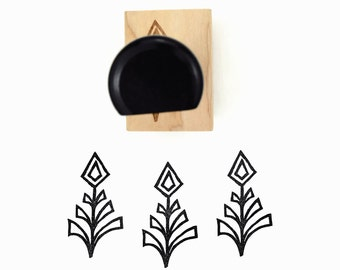 Geometric Pattern Rubber Stamp | Hand Drawn Geometric Stamp