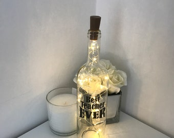 Personalised light up bottle