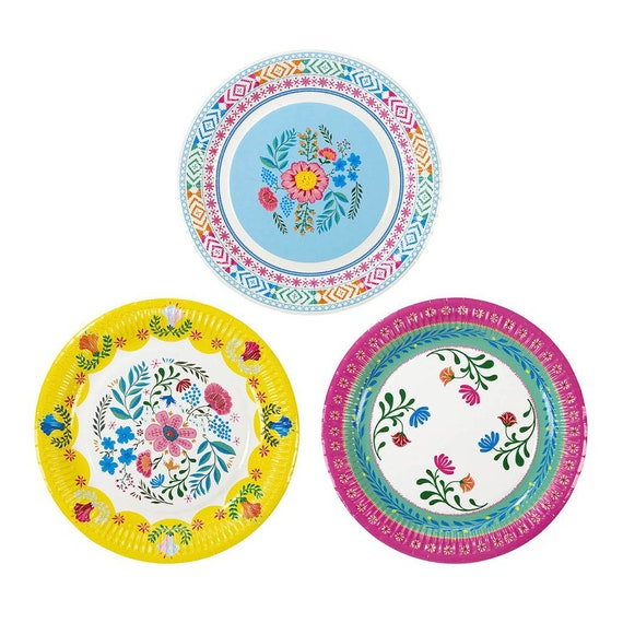 Floral Boho Party Plates -Large| Floral Fiesta Llama Party Floral Paper Plate Rustic Boho Bridal Shower Bohemian Baby Shower Fiesta Birthday from ...  sc 1 st  Etsy Studio & Floral Boho Party Plates -Large| Floral Fiesta Llama Party Floral ...