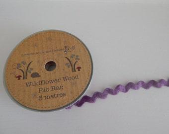 Purple Ric Rac/ Zig Zag Ribbon - 5 Metres