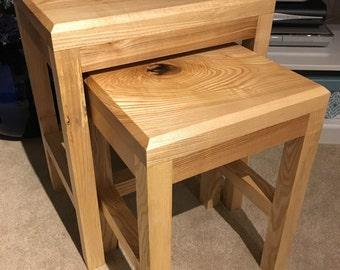 Handmade nesting coffee table