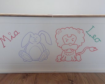 Personalised Toy Box - Custom made, hand crafted and individual