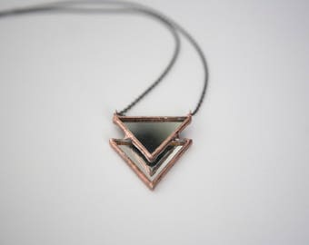 Mirror Double Triangle Necklace
