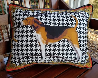 Fox Hound Pillow American Fox Hound Hunting Dog Horse