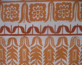 Vintage Fabric, 35 x 46,  Peach Colors, Mid Century Hawaiian, cotton
