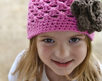 girls hat, baby girls hat, little girls hat, kids hat, crochet kid hat, pink hat, Baby girls hat, crochet hat for girls ,, girls winter hat