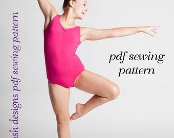 Ballet leotard pattern pdf pattern ballet basics 1 ballet leotard, crossover top, wrap top, ballet skirt, wrap skirt, girls sizes 1-14