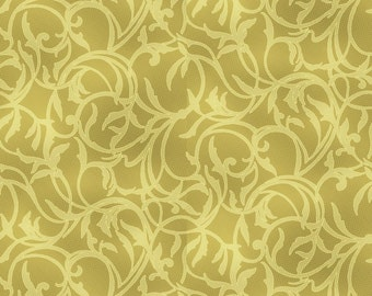 Christmas Fabric, Gold fabric, Gold with metallic gold pirouette, Holiday Reflections, by EBI, 1203