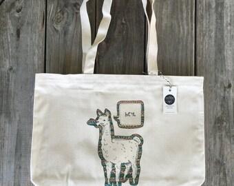 Llama Tote, Funny Tote Bag, Market Bag