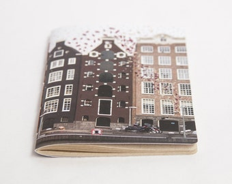 Embroidered City Notebook. Amsterdam, The Netherlands